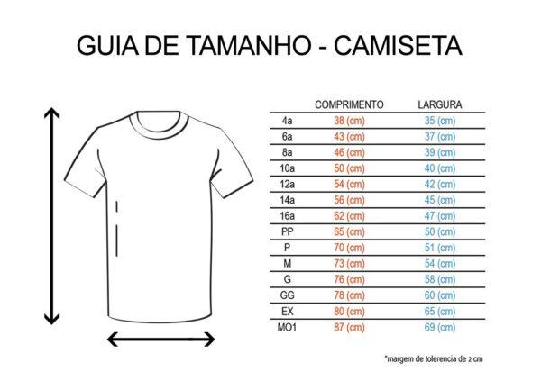 Guia de Tamanho Camisetas Torcida Jovem Santos FC
